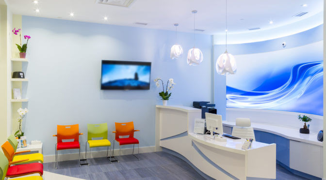 Reception Interior Design in the clinic .